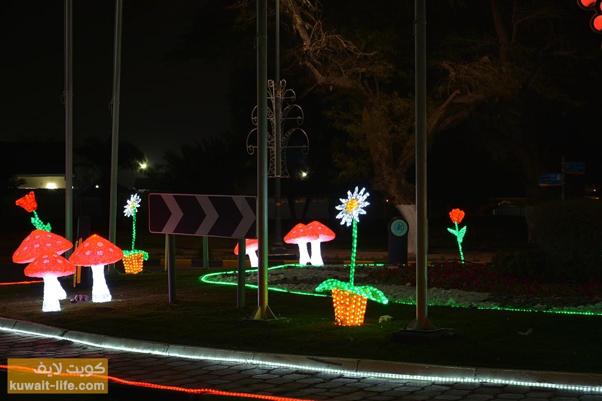 إضاءة-الأحمدي-بمناسبة-العيد-الوطني-2014