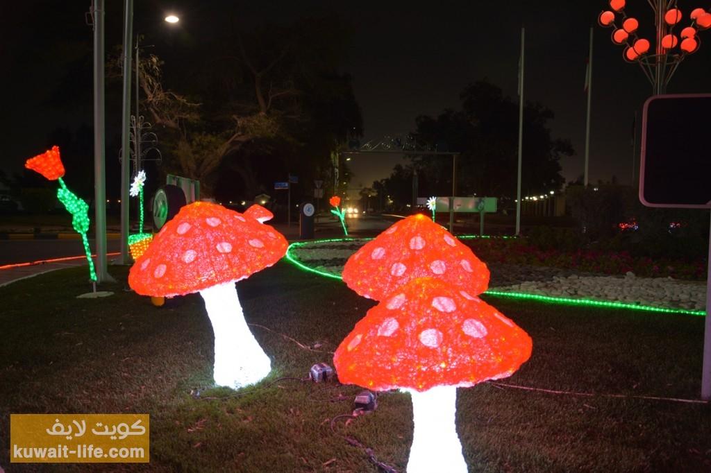 إضاءة-الأحمدي--بمناسبة-العيد-الوطني-2014