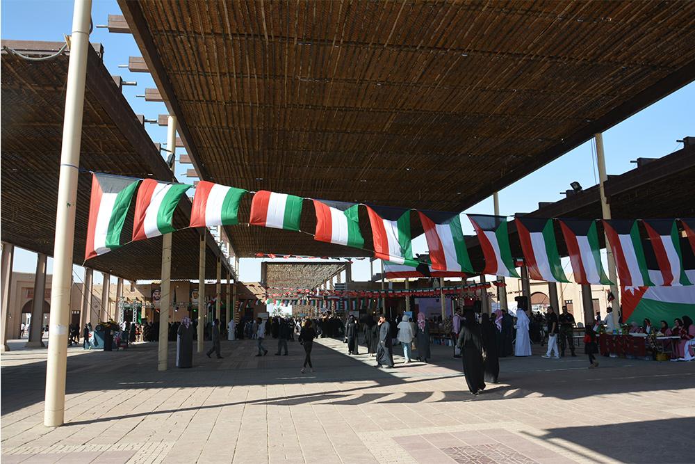 البهو الرئيسي في قرية الموروث التراثي في الكويت