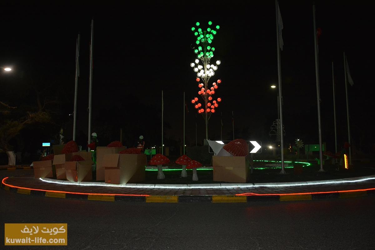 التجهيزات-في-الأحمدي-إحتفالاً-بالعيد-الوطني-2014