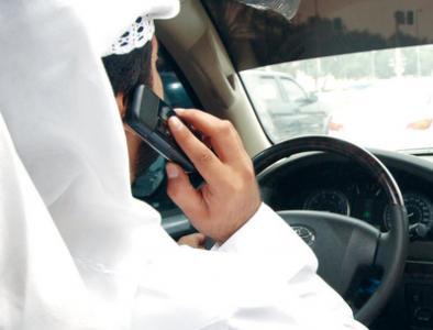 مخالفة استخدام الجوال اثناء القيادة في الكويت