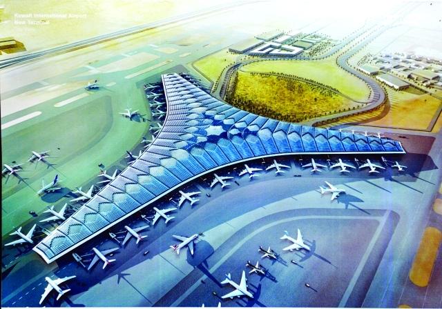 مطار الكويت الجديد و نسبة الإنجاز الحالية